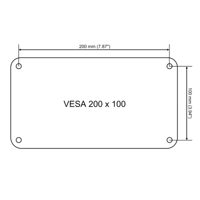 vesa mounting 200x100 usually for displays between 24 and 32 and. Black Bedroom Furniture Sets. Home Design Ideas